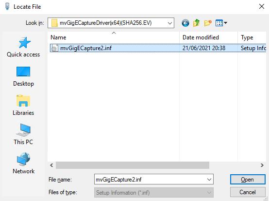 mvIMPACT Acquire SDK C++: Installation From Private Setup