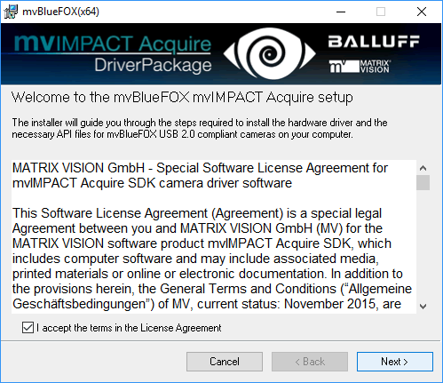 MATRIX VISION - mvBlueFOX Technical Documentation: Quickstart