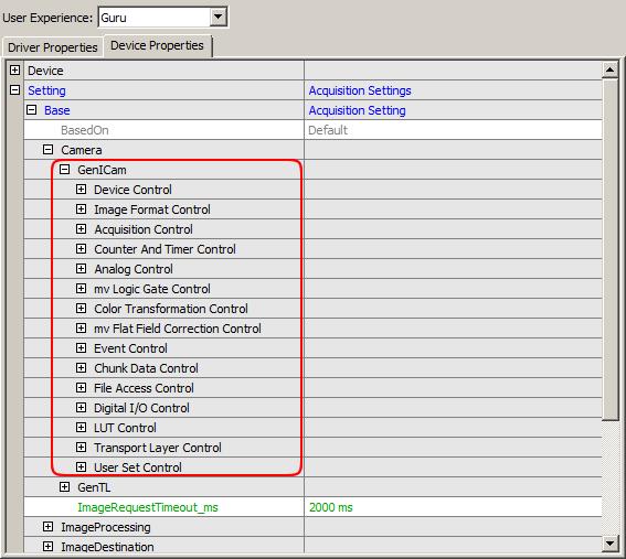 MATRIX VISION - mvBlueFOX3 Technical Documentation: GenICam and
